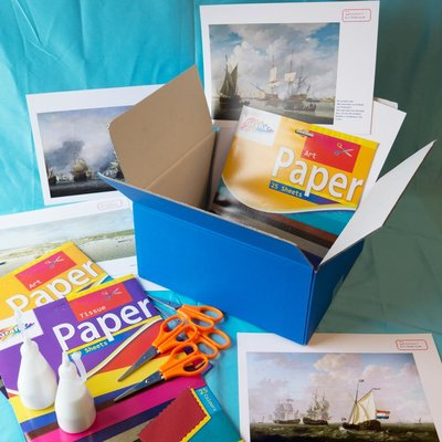 Materiaalbox les 2.1 Bootje op zee