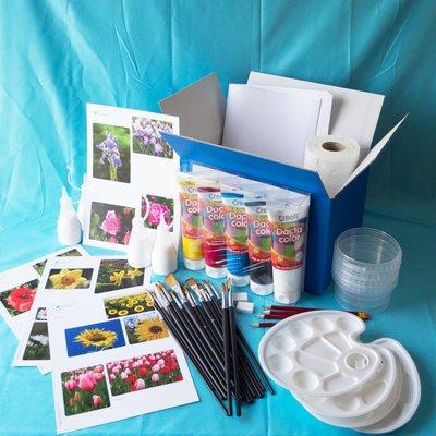 Materiaalbox les 3.11 Boeketje bloemen
