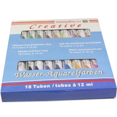 Aquarelverf 24 tubes à 12 ml