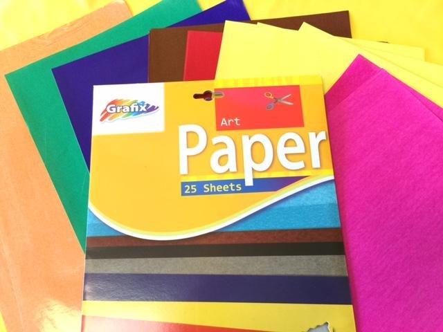 Knutsel Art papier Div. kleuren (25 vel) 24x36cm