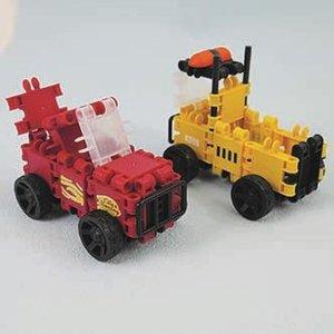rode auto en gele vrachtwagen foto voor webshop.JPG